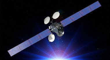 ABS-3A satellite. Credit: Boeing artist's concept