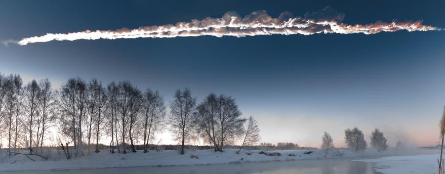 A 20-meter asteroid on its way to Earth dramatically disintegrated above Chelyabinsk, Russia on Feb. 15, 2013. Credit: M. Ahmetvaleev