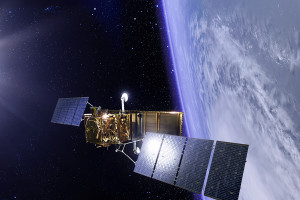 Artist's concept of one of two second-generation Cosmo-SkyMed radar reconnaissance satellites being built for the Italian government by Thales Alenia Space. Credit: Thales Alenia Space