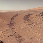 Mars' surface from the Curiosity rover. Image credit: NASA JPL