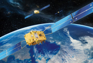 Artist's concept of Galileo satellites in formation. Credit: OHB