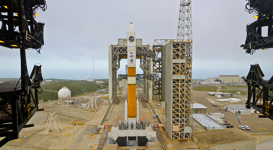 Delta 4 prepared to launch NROL-25 mission from Vandenberg Air Force Base, California. Credit: ULA