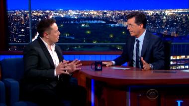 Musk and Colbert