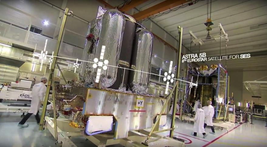 SES's Astra-5B satellite. Credit: SES video grab