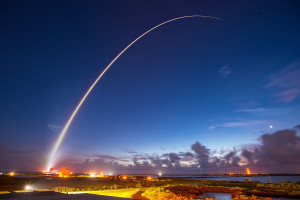 An Atlas 5 rocket from United Launch Alliance lifts the fourth communication satellite from the U.S. Navy's Mobile User Objective System  from Cape Canaveral Air Force Station Sept. 2. Credit: U.S. Air Force.