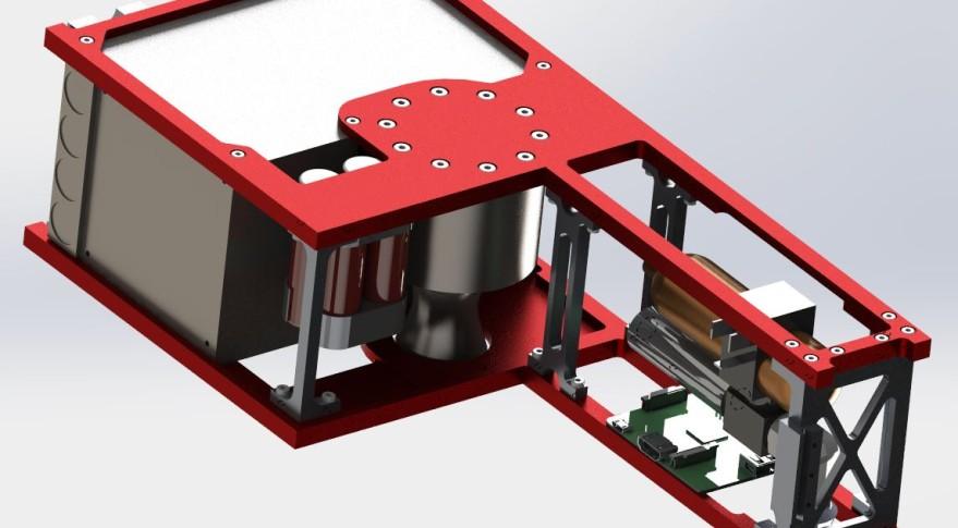 Cislunar Explorer, a 3U cubesat a team at Cornell University is developing for a NASA-funded Lunar Derby. Credit Cislunar Explorer's artist concept.