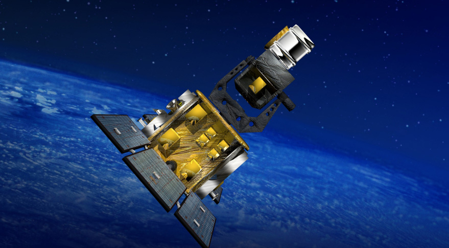 BOEING ARTIST'S CONCEPT of the SBSS satellite.