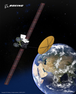 Silkwave-1, a Boeing 702 satellite, will enter service in 2018 and expand multimedia communications for mobile users in China, India and other markets in Asia. Credit: Boeing