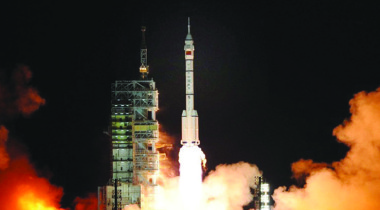 Apstar-6C satellite will be launched in 2018 aboard a Long March 3B rocket (above). Credit: Xinhua