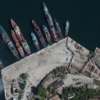 This image from DigitalGlobe's WorldView-3 satellite shows the Crimean port of Sevastopol. Credit: DigitalGlobe