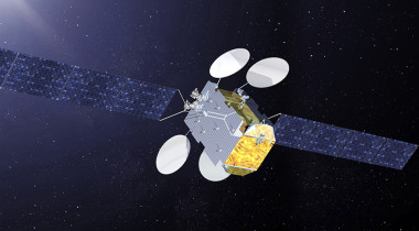 New Eutelsat high-throughput Ka-band satellite built by Thales Alenia Space for Africa. Credit: Thales Alenia Space artist's concept