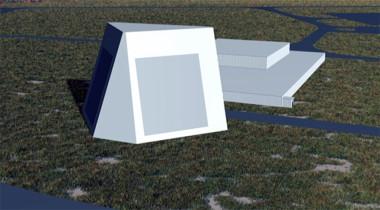 Lockheed Martin Long Range Discrimination Radar. Credit: Lockheed Martin artist's concept