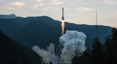 The Apstar-6C satellite will be launched in 2018 aboard a Long March 3B rocket (above). Credit: Xinhua/Li Xiang