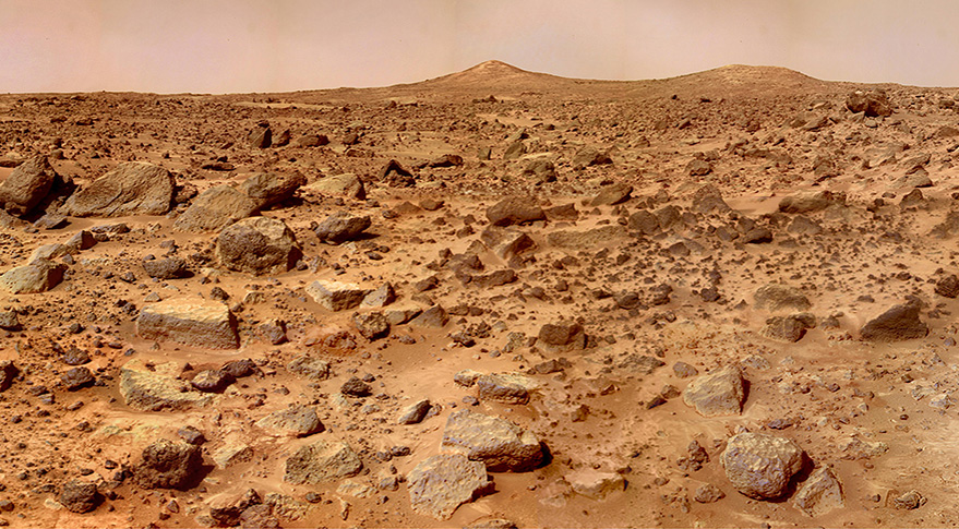 Martian surface. Credit: NASA