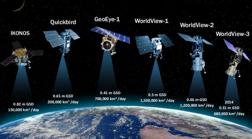DigitalGlobe's constellation of Earth-imaging satellites no longer includes  Ikonos and Quickbird, which were retired in 2015. Credit: DigitalGlobe