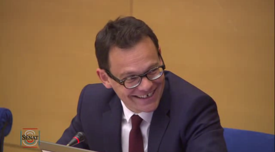 In testimony to the French Senate's economic affairs committee, Arianespace Chief Executive Stephane Israel said the company has booked nearly 2 billion euros in new orders this year, bringing its backlog to more than 5 billion euros and maintaining its market share at 50 percent. Credit: videos.senat.fr