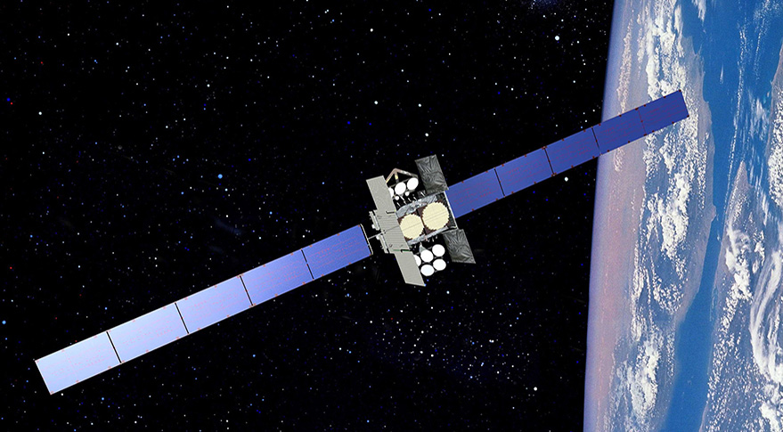 U.S. Air Force Wideband Global Satcom communications satellite. Credit: Boeing artist's concept