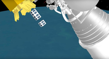 A United Launch Alliance animation showing two cubesats deploying from the 24-cubesat dispenser the Denver company says its making standard on all Atlas 5 rockets beginning in 2017. Credit: ULA