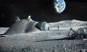 """A Moon Village,"" said ESA director-general Johann-Dietrich Woerner, ""shouldn't just mean some houses, a church and a town hall."" It could be beacon of international and even commercial cooperation. Credit: ESA artist's concept of a lunar outpost"