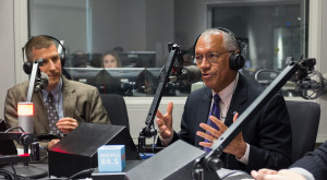 The topic was Apollo, not climate change, when NASA Administrator Charles Bolden (right) appeared on WAMU's The Kojo Nnamdi show earlier this year. Credit: NASA/Joel Kowsky