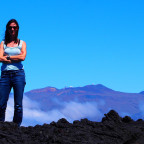 Professor Sara Seager, who comes across like she's always on top of a mountain, even when she isn't literally (as show above at Mauna Lao in Hawaii). Credit: Charles Darrow