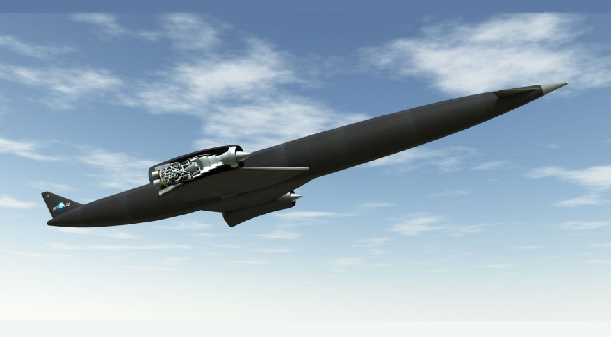 Skylon with SABRE engines. Credit: Reaction Engines