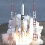 Telesat's Telstar 12 Vantage satellite is launched on the inaugural flight of an upgraded Japanese H-2A rocket. Credit: JAXA video capture