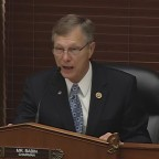 Rep. Brian Babin urged NASA to look into buying more Earth imagery from commercial sources. Credit: House Science Committee video