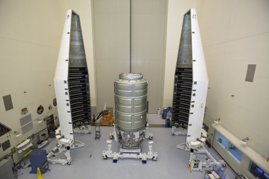 Cygnus and payload fairing