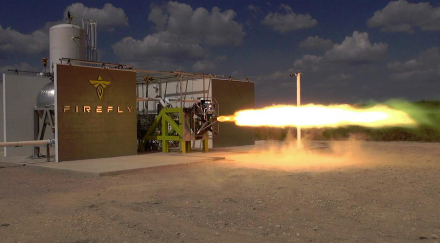 In September, Firefly announced the first successful ground test of its rocket engine at its testing facility in Briggs, Texas. Credit: Firefly Space Systems