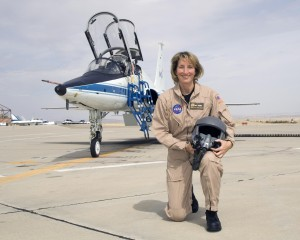 Kelly Latimer, a retired U.S. Air Force lieutenant colonel, also worked for Boeing and NASA's Armstrong Flight Research Center prior to joining Virgin Galactic.  Credit: NASA