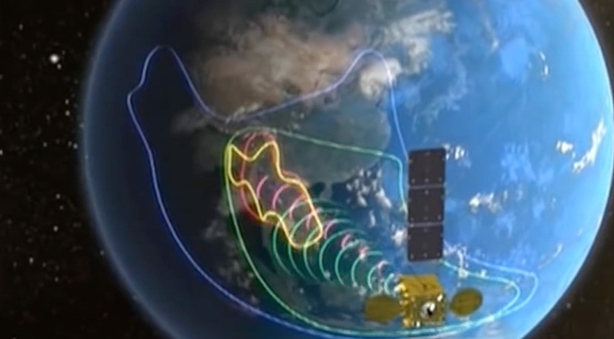 Based on the Chinese DFH-4 platform, LaoSat-1 was placed into geostationary transfer orbit by a Chinese Long March 3B rocket operating from China's Xichang Satellite Launch Center, in Sichuan Province.  Credit: CCTV screen grab