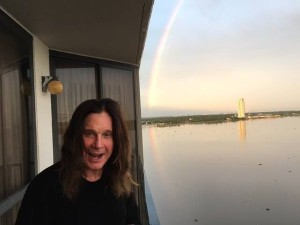 """Ozzy Osbourne tweeted a photo Nov. 4 of him at a  hotel near Johnson Space Center, with the caption """"in Houston @NASA History.""""  Credit: @OzzyOsbourne/Twitter"""