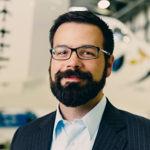 Will Pomerantz, Virgin Galactic's vice president for special projects, shaved his beard (above) in 2015. Credit: Will Pomerantz