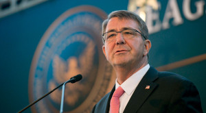 U.S. Secretary of Defense Ash Carter delivers remarks at the 3rd annual Reagan National Defense Forum at the Ronald Reagan Presidential Library in Simi Valley, Calif.,  Nov. 7, 2015. Credit:  OSD/ Senior Master Sgt. Adrian Cadiz