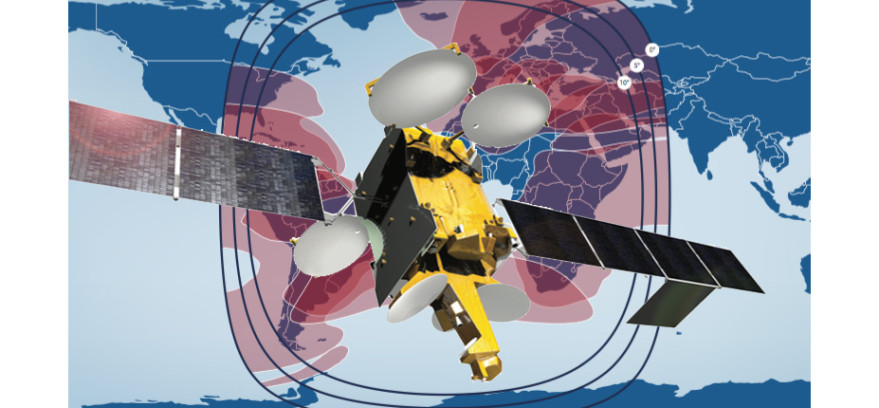Telesat's first Vantage satellite, Telstar 12 Vantage, is slated for a late November launch.  Credit: Telesat/SpaceNews graphic
