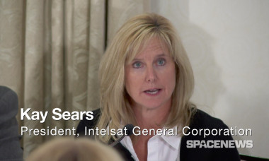 Intelsat General President Kay Sears during a Dec. 15 panel discussion on the DoD's pivot to commercial satellite communications. Credit: SpaceNews