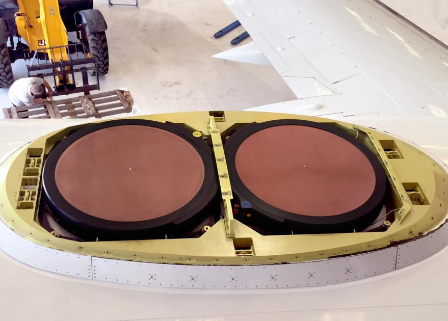 Gogo's U.S.-based air-to-ground business is expanding to include Ku-band satellites with the company's new 2Ku aeronautical satellite antennas. Credit: Gogo