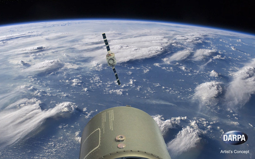 DARPA is hoping it can take elements of its ALASA program, shown in the rendering above, to industry to improve how quickly the military can launch small satellites into low earth orbit. Credit: DARPA