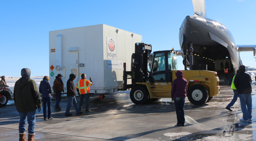 RETURN TO SENDER | Lockheed Martin delivered NASA's InSight spacecraft to its California launch site just last week. The spacecraft will return to Lockheed Martin's Denver facility, where it will be placed in storage. Credit: Lockheed Martin