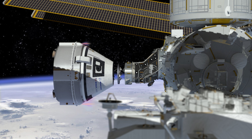 Artist's concept of Boeing's CST-100 Starliner capsule approaching the International Space Station. Credit: NASA/Boeing