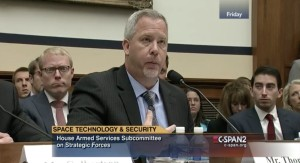 "Among the things propulsion expert Jeff Thornburg did for SpaceX: testify on Capitol Hill. ""It was a lot of fun,"" Thornburg said of the experience. Credit: C-Span video capture"