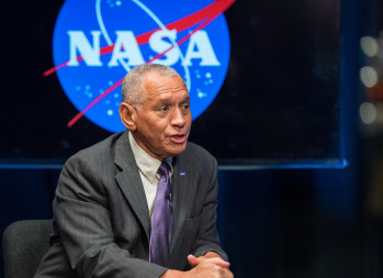 """I'm not sure that the U.S. Congress can pass a law that authorizes American citizens to go do something"" like claim rights to space resources, NASA Administrator Charles Bolden said at a Dec. 1 NASA Advisory Council meeting (NASA/Aubrey Gemignani)."