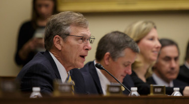 Rep. Brian Babin, shown above at a Dec. 2 event featuring a live video chat with ISS astronauts, spoke at a space law symposium Dec. 9 to defend one of H.R. 2262's more controversial provisions: granting U.S. citizens the rights to resources they obtain from asteroids or other bodies beyond Earth. Credit: NASA/Joel Kowsky