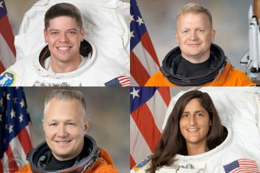 Clockwise from top left: Robert Behnken, Eric Boe, Sunita Williams and Douglas Hurley. Credit: NASA/CollectSpace