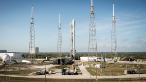SpaceX is currently aiming for a Dec. 21 launch of the Falcon 9 rocket, carrying 11 satellites for Orbcomm. SpaceX will also attempt to land the first stage of the Falcon 9 rocket at Cape Canaveral. The landing of the first stage is a secondary test objective. Credit: SpaceX