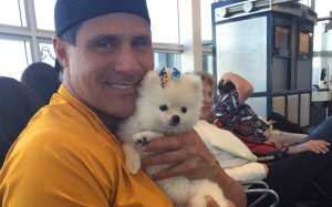 Former major leaguer Jose Canseco followed a string of out-of-left-field Mars terraforming tweets by posting this photo he took with his dog. Credit: @JoseCanseco