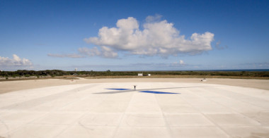 SpaceX released this photo Dec. 21 of the Falcon 9 landing zone at Cape Canaveral Air Force Station, Florida.