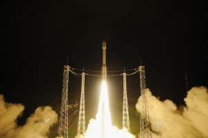 The Vega rocket lifted off  Dec. 3 from Kourou, French Guiana, at 1:04 a.m. local time, placing the spacecraft into an elliptical parking orbit. The spacecraft will later maneuver to the Earth-sun L-1 Lagrange point to carry out its mission to demonstrate technologies that could be used by future spacecraft to detect gravitational waves (ESA photo)