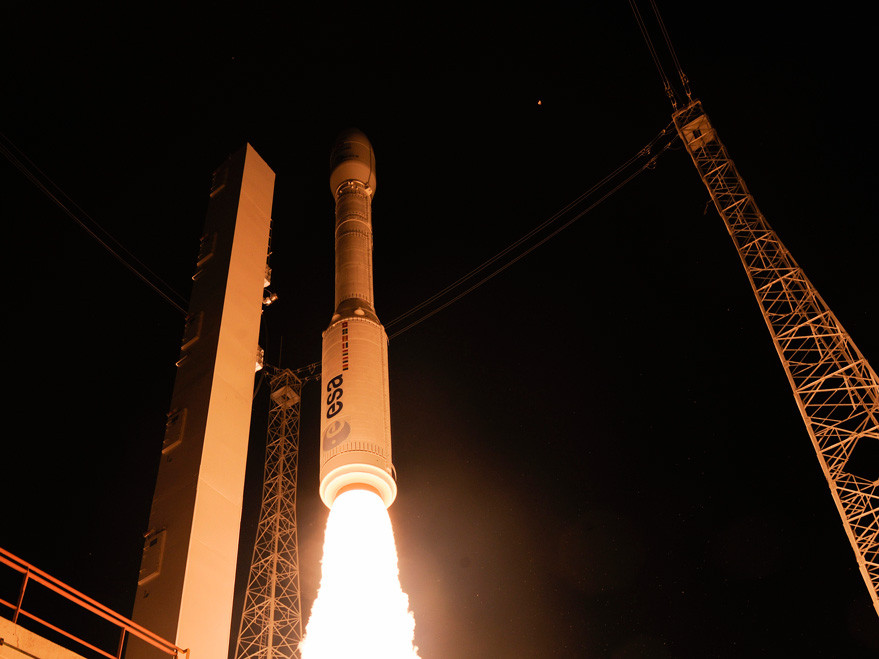 Vega lifted off Dec. 3 from French Guiana at 1:04 a.m. local time, placing LISA Pathfinder into an elliptical parking orbit (ESA photo)
